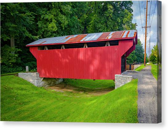 Feedwire Covered Bridge - Carillon Park Dayton Ohio Canvas Print