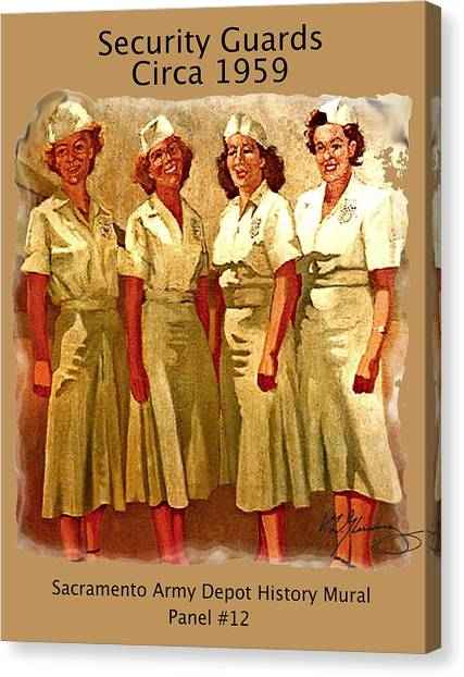 Female Security Guards Canvas Print