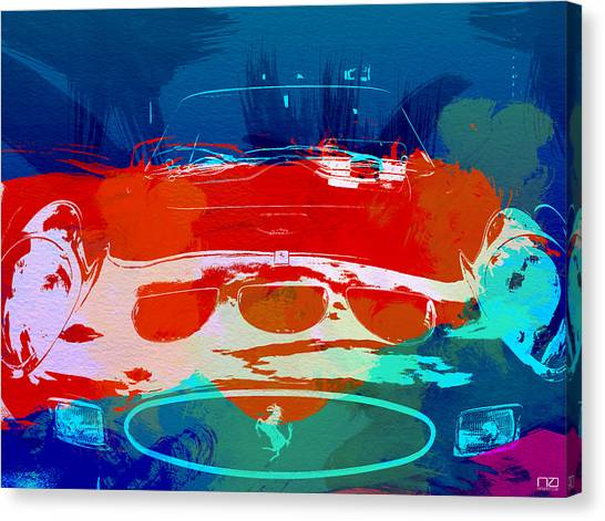 Automobiles Canvas Print - Ferrari Gto by Naxart Studio