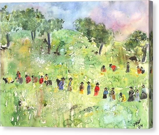 Field Workers Canvas Print by Joyce Ann Burton-Sousa