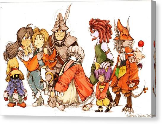 Final Fantasy Canvas Print - final fantasy IX by Maye Loeser