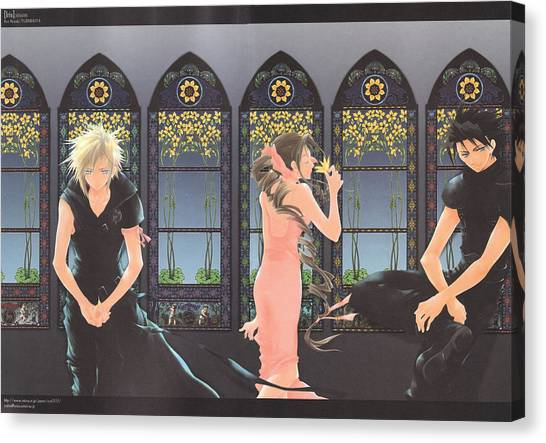 Final Fantasy Canvas Print - Final Fantasy Vii by Super Lovely