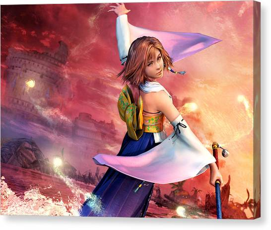 Final Fantasy Canvas Print - Final Fantasy X by Super Lovely