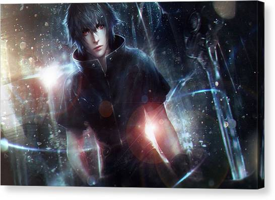 Final Fantasy Canvas Print - Final Fantasy Xv by Super Lovely