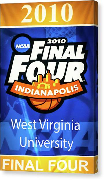 West Virginia University Wvu Canvas Print - Final Four Trip by Aaron Geraud