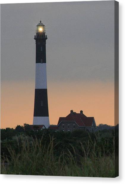 Fire Island Flash Canvas Print