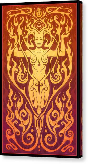 Sprite Canvas Print - Fire Spirit by Cristina McAllister