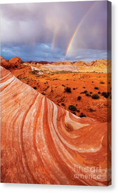 Valley Of Fire Canvas Print - Fire Wave Miracle by Mike Dawson