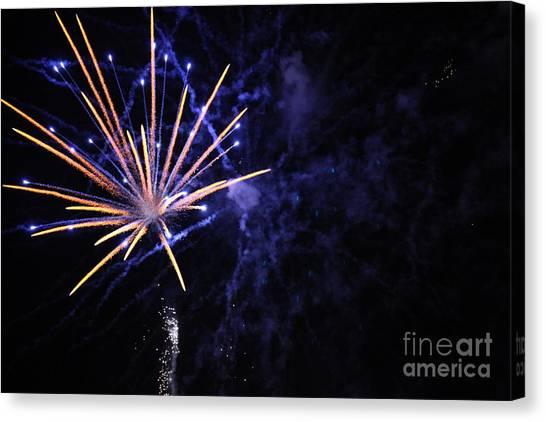 Fireworks Canvas Print by Diane Falk