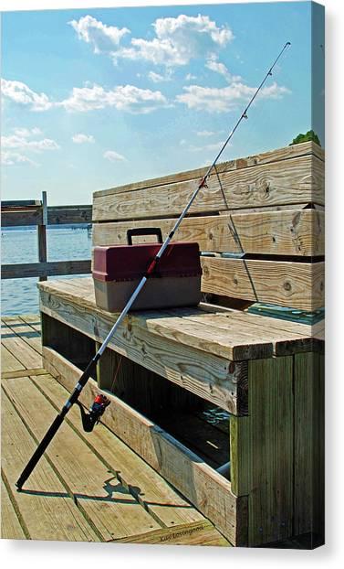 Fishin' Pole Canvas Print
