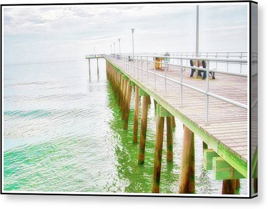 Fishing Pier, Margate, New Jersey Canvas Print