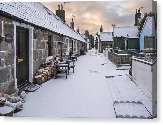Fittie In The Snow Canvas Print
