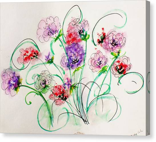 Floral Bunch Canvas Print by Trilby Cole