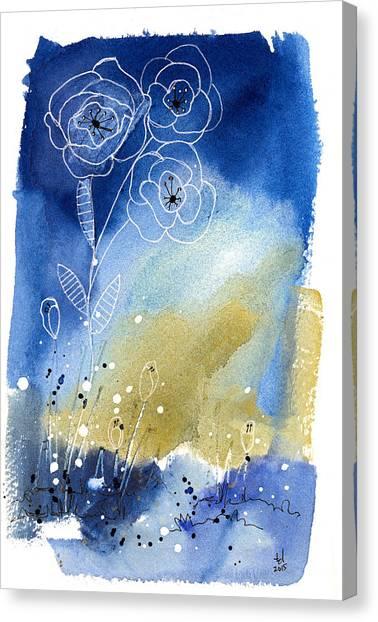 Floral V Canvas Print
