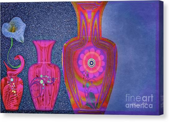 Canvas Print featuring the digital art Flower Power by Eleni Mac Synodinos