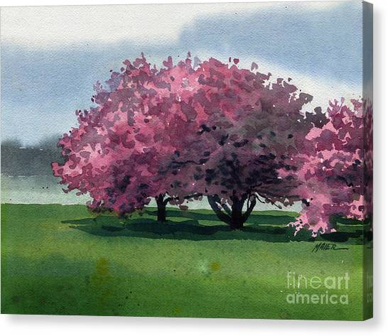 Blooming Tree Canvas Print - Flowering Trees by Donald Maier