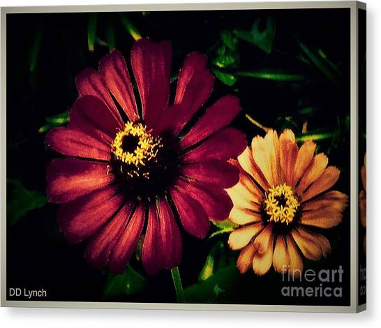 Border Wall Canvas Print - Flowers Lighting Up The Darkness by Debra Lynch