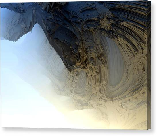 Fog In The Cave Canvas Print
