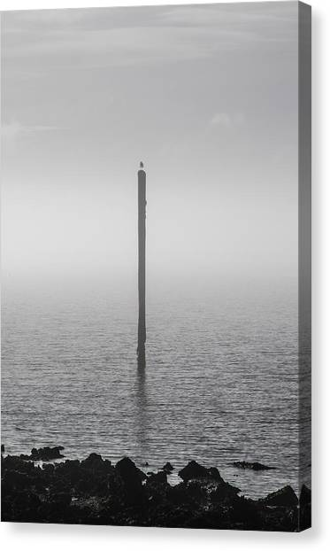 Canvas Print featuring the photograph Fog On The Cape Fear River by Willard Killough III