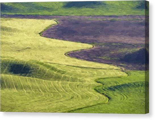 Farm Canvas Print - Follow The Lines II by Jon Glaser