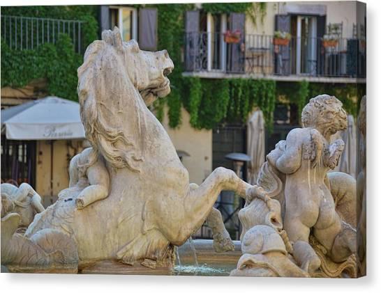 Fontana Dei Calderari Canvas Print by JAMART Photography