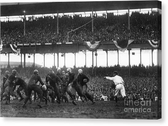 Polo Canvas Print - Football Game, 1925 by Granger