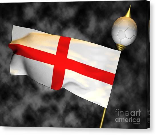 Football World Cup Cheer Series - England Canvas Print by Ganesh Barad