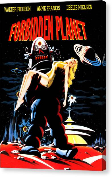 Forbidden Planet Canvas Print - Forbidden Planet, Robby The Robot by Everett