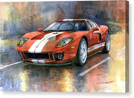 Car Canvas Print - Ford Gt 40 2006  by Yuriy Shevchuk