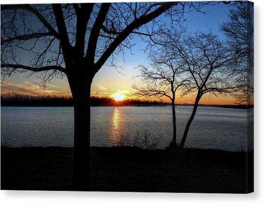 Ford Lake Sunset Canvas Print