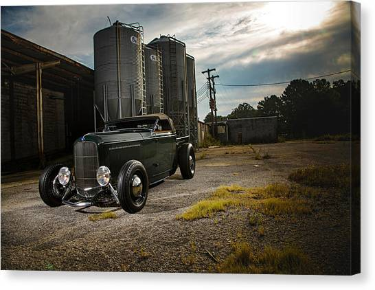 Forklifts Canvas Print - Ford Roadster by Mariel Mcmeeking