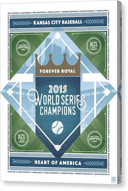 Kansas City Royals Canvas Print - Forever Royal by CircaLitho