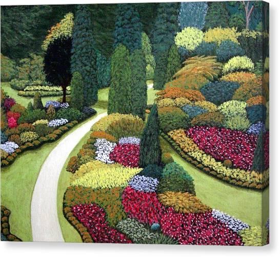 Formal Gardens Canvas Print by Frederic Kohli