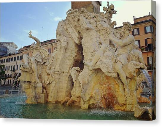 Four Rivers Fountain Canvas Print by JAMART Photography