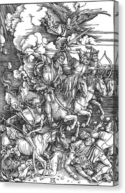 Four Horsemen Of The Apocalypse Canvas Print