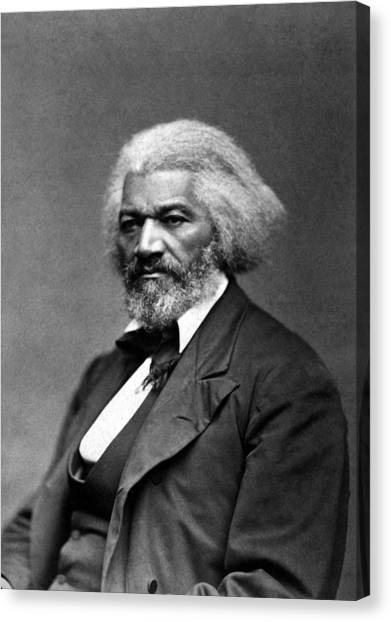 Racism Canvas Print - Frederick Douglass Photo by War Is Hell Store