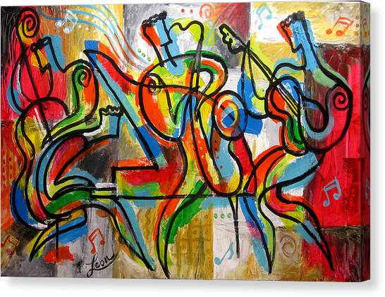 Free Jazz Canvas Print