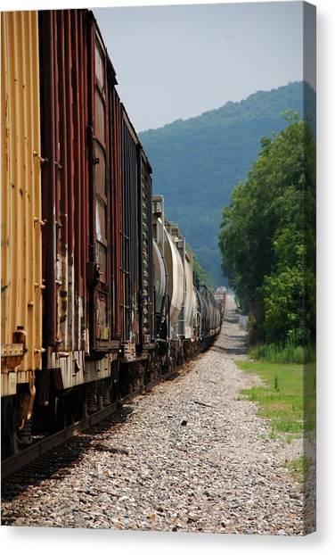 Freight Train Canvas Print