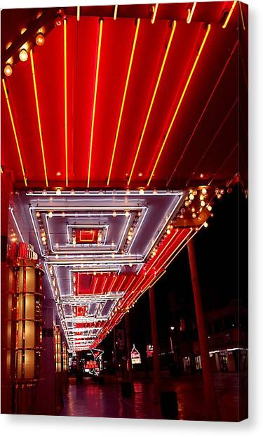 Fremont Street Las Vegas Canvas Print by Bill Buth