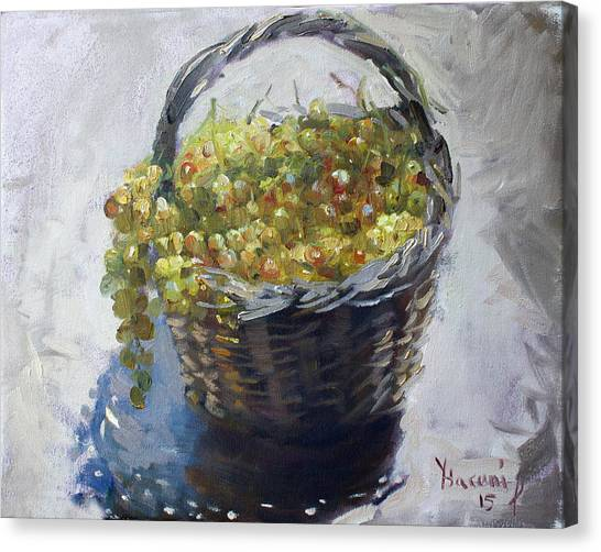Grapes Canvas Print - Fresh From The Garden by Ylli Haruni