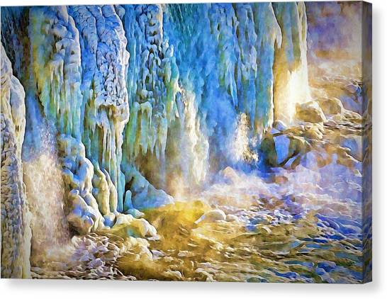 Frozen Waterfall Canvas Print