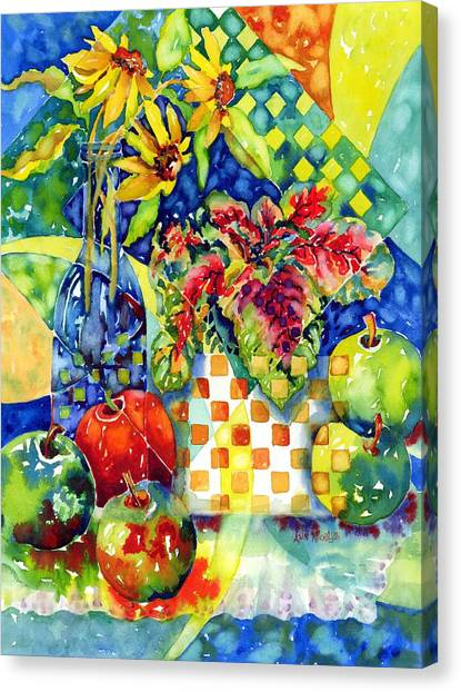 Fruit And Coleus Canvas Print