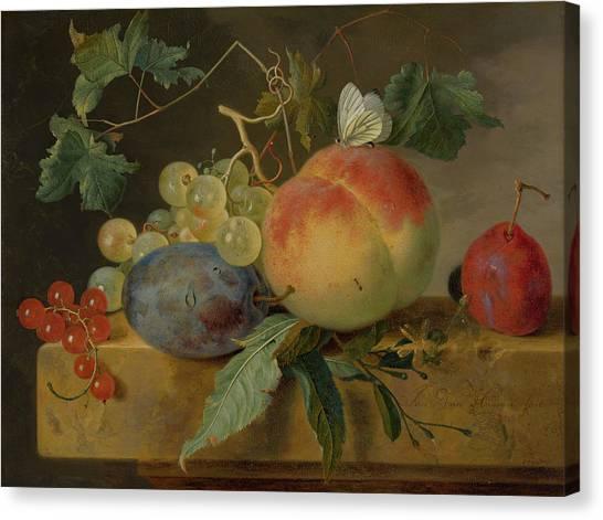 Peel Canvas Print - Fruit Still Life by Jan van Huysum