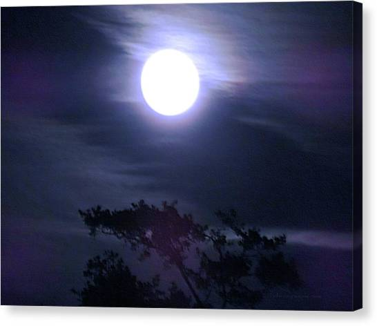 Full Moon Falling Canvas Print