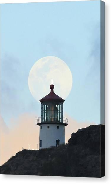 Full Moon Over Makapu'u Light Canvas Print