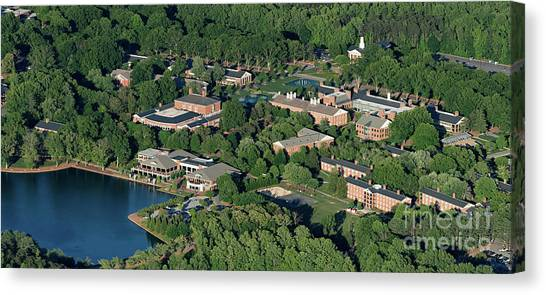 Kappa Delta Canvas Print - Furman University Campus Aerial by David Oppenheimer