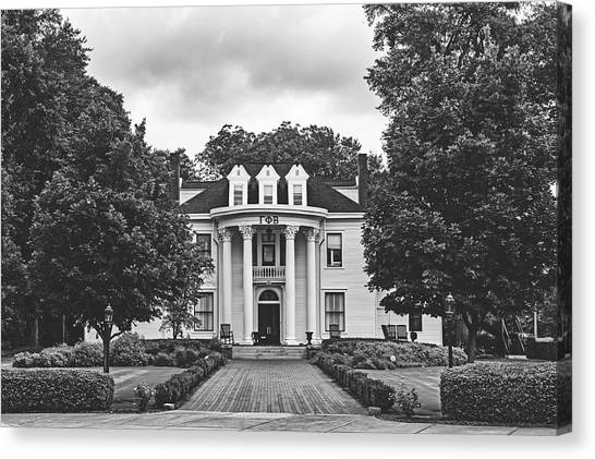 Gamma Phi Beta Canvas Print - Gamma Phi Beta Sorority House - University Of Georgia by Library Of Congress