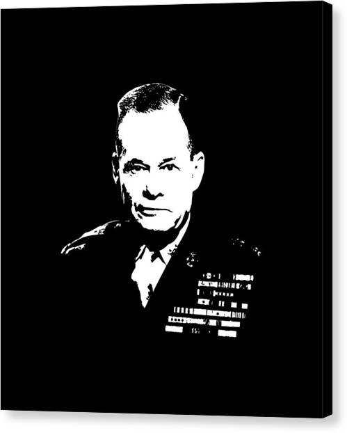 Soldiers Canvas Print - General Lewis Chesty Puller by War Is Hell Store