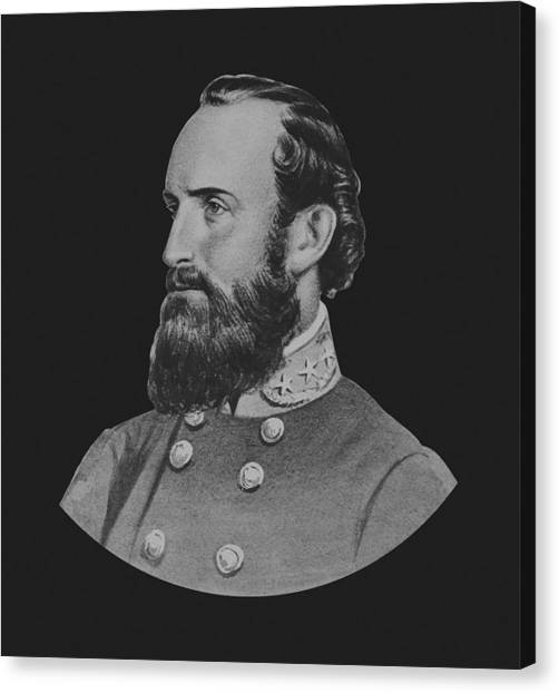 Confederate Army Canvas Print - General Stonewall Jackson - Five by War Is Hell Store