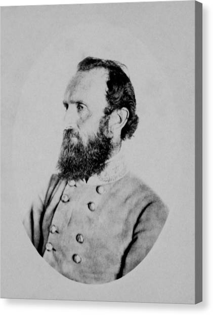 Stonewall Canvas Print - General Thomas Stonewall Jackson Photo by War Is Hell Store